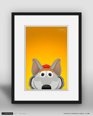 Minimalist KC Wolf Kansas City Chiefs Mascot - S. Preston