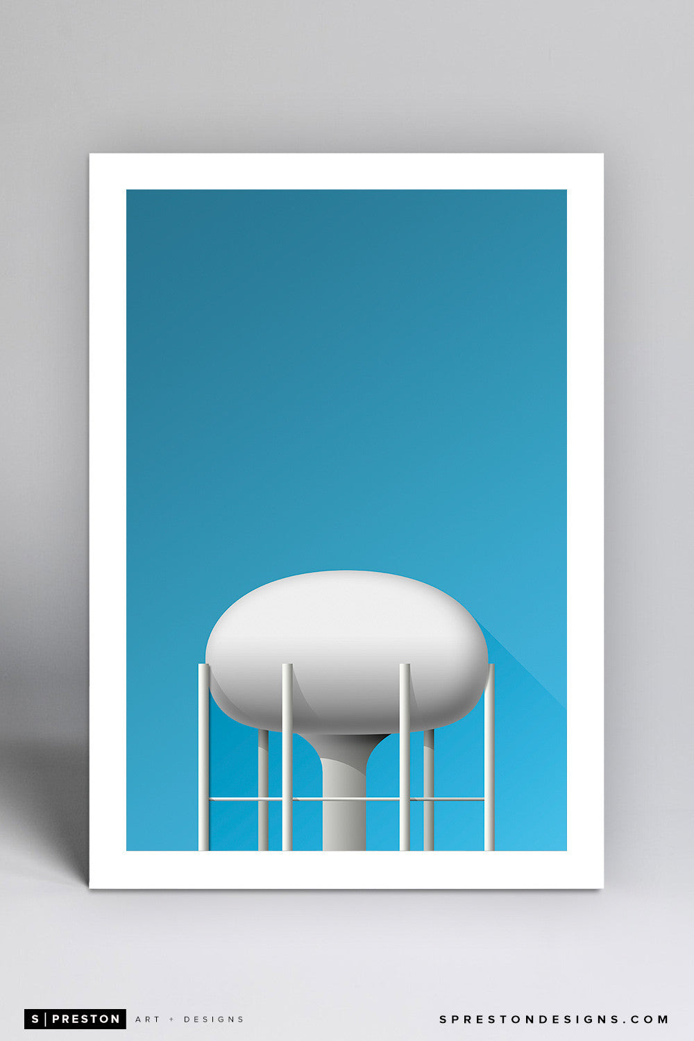 Minimalist Kinnick Stadium Art Print - University of Iowa - S. Preston Art + Designs