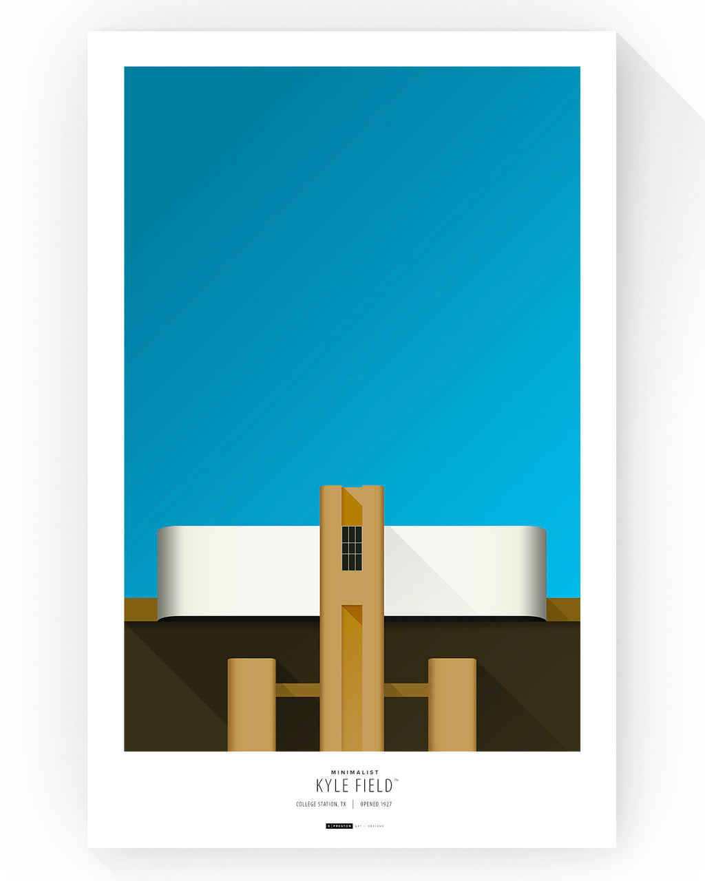 Minimalist Kyle Field Poster Print Texas A&M - S Preston