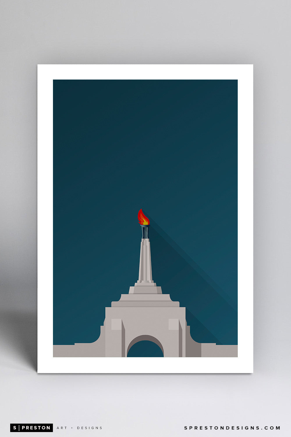 Minimalist LA Memorial Coliseum - USC - S. Preston
