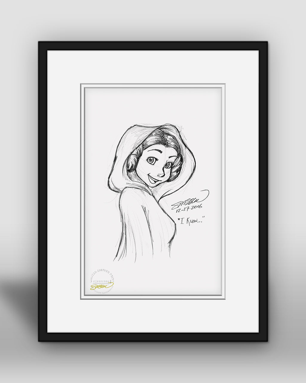 Carrie Fisher Tribute Limited Edition Print