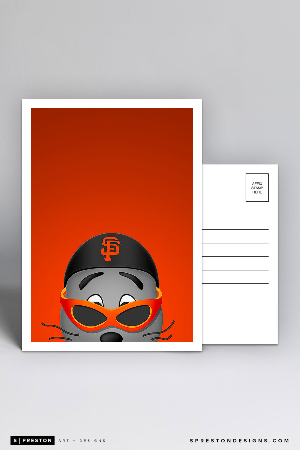 Minimalist Lou Seal Postcard San Francisco Giants Mascot