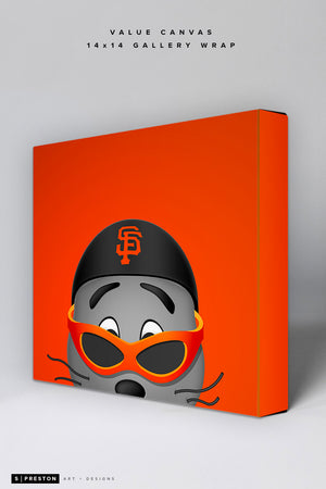 Minimalist Lou Seal Value Canvas