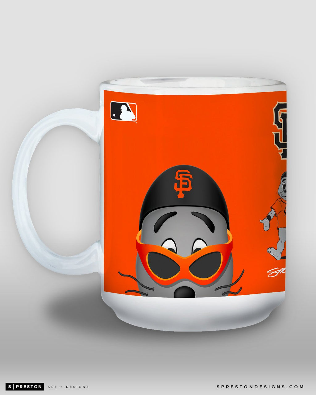 Minimalist Lou Seal Coffee Mug - MLB Licensed - San Francisco Giants Mascot
