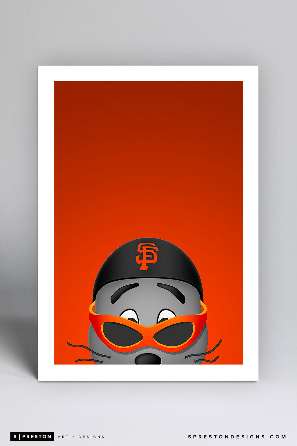 Minimalist Lou Seal Art Print - San Francisco Giants - S. Preston Art + Designs
