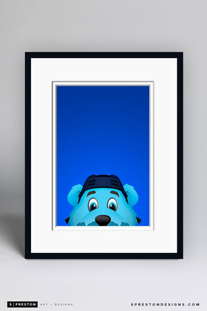Minimalist Louie Art Print - St. Louis Blues - S. Preston Art + Designs