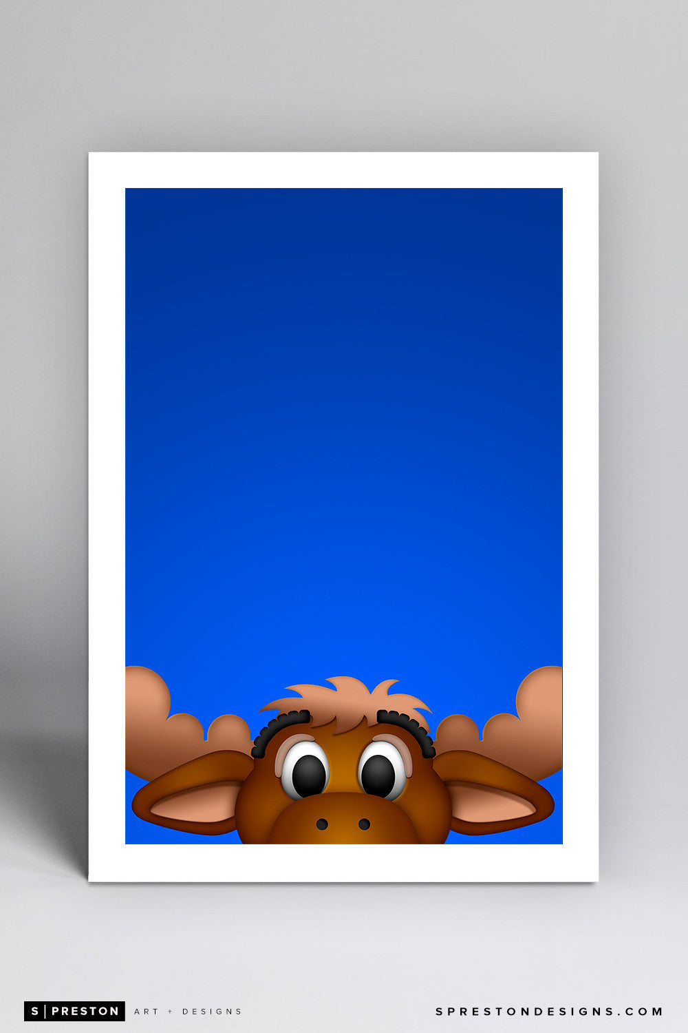 Minimalist Mariner Moose Art Print - Seattle Mariners - S. Preston Art + Designs