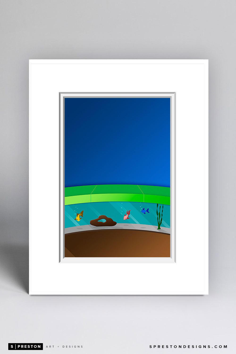 Minimalist Marlins Park Matted Art Poster - CLEARANCE