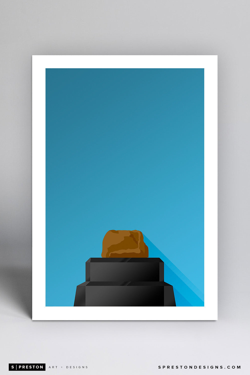 Minimalist Memorial Stadium (Clemson) Art Print - Clemson University - S. Preston Art + Designs
