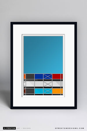 Minimalist Metropolitan Stadium Art Print - Minnesota Twins - S. Preston Art + Designs