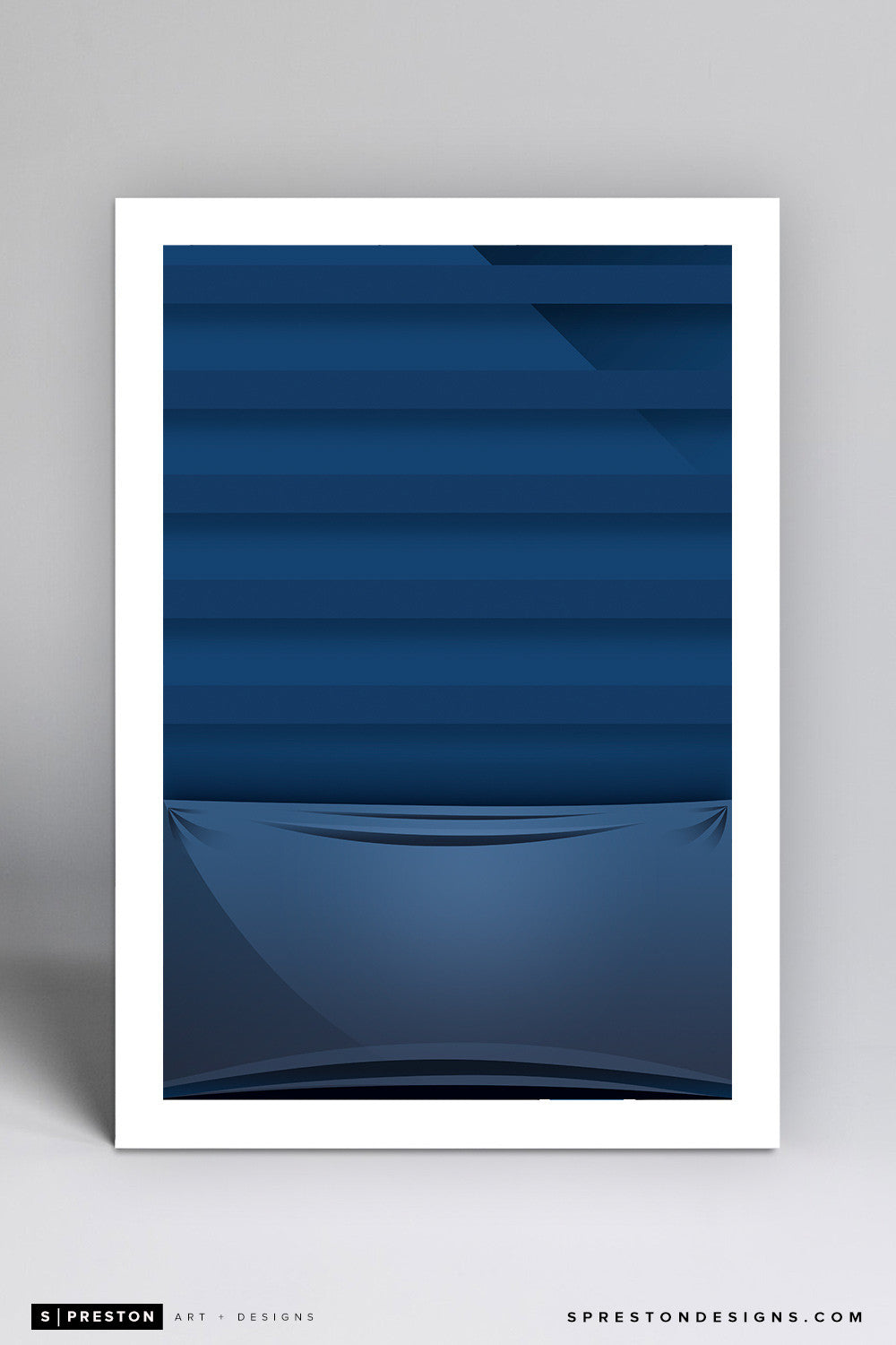 Minimalist Metrodome (Baggie) Art Print - Minnesota Twins - S. Preston Art + Designs