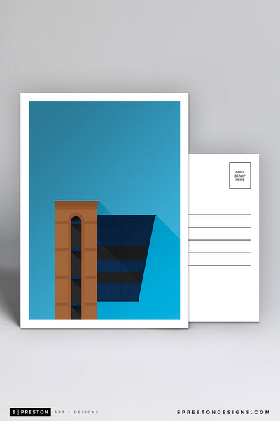 Minimalist Michigan Stadium Postcard