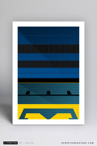 Minimalist Michigan Stadium (Grandstand)