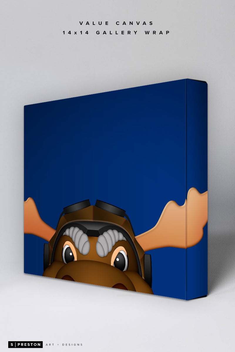 Minimalist Mick E. Moose Value Canvas