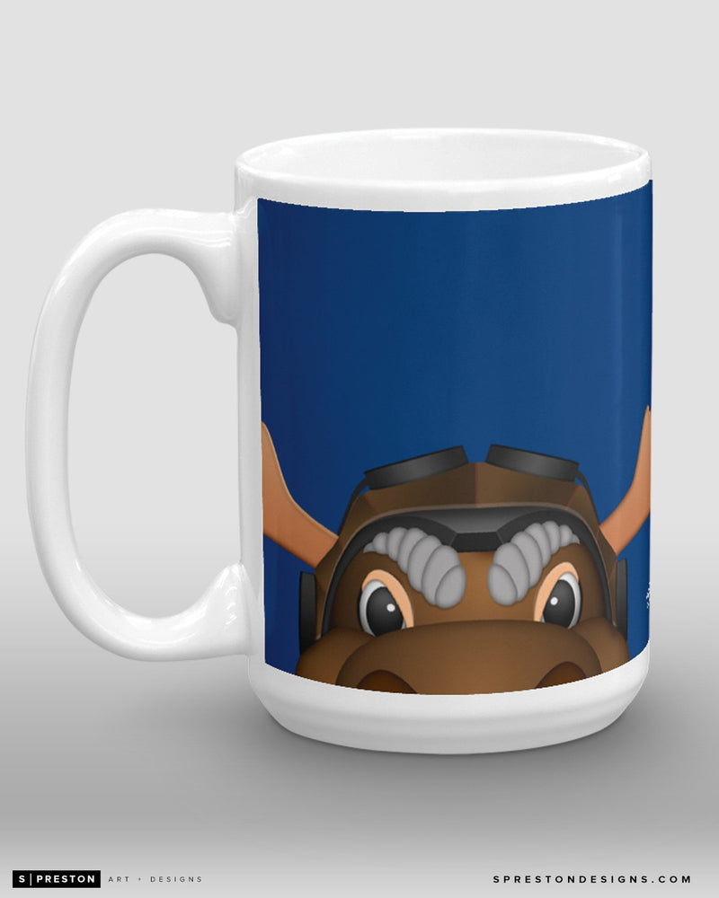 Minimalist Mick E. Moose Coffee Mug - NHL Licensed - Winnipeg Jets Mascot