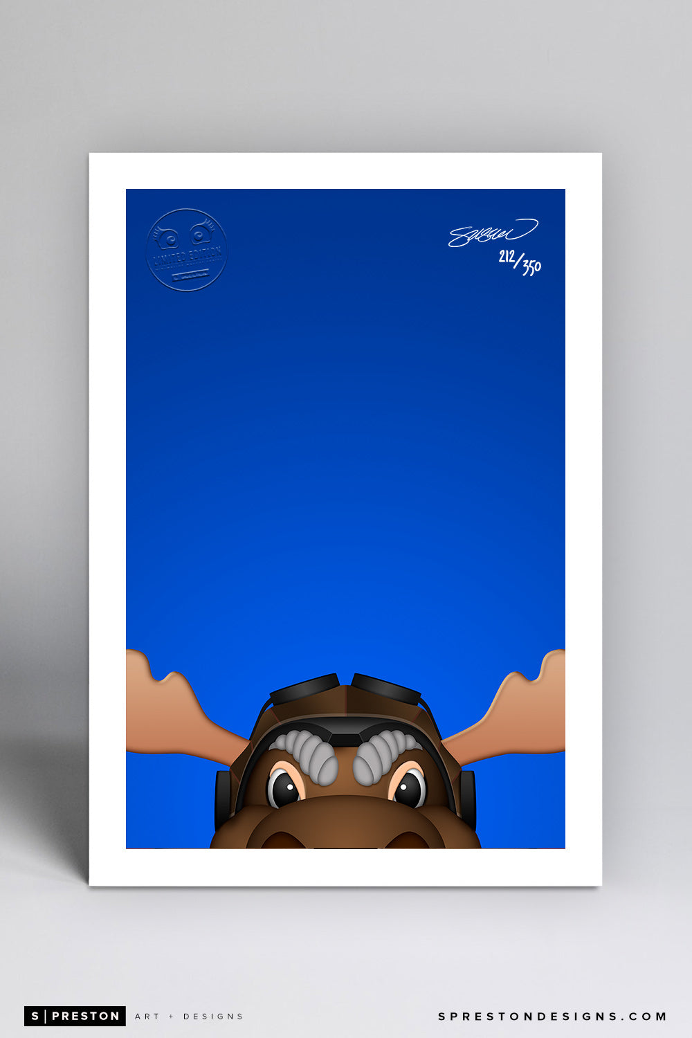 Minimalist Mick E. Moose - Winnipeg Jets - S. Preston