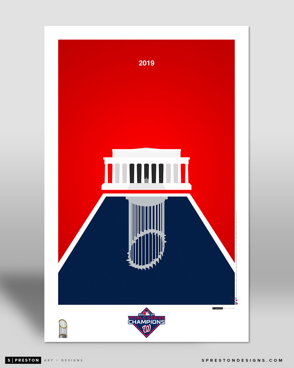 Minimalist World Series 2019 Poster Print - CLEARANCE