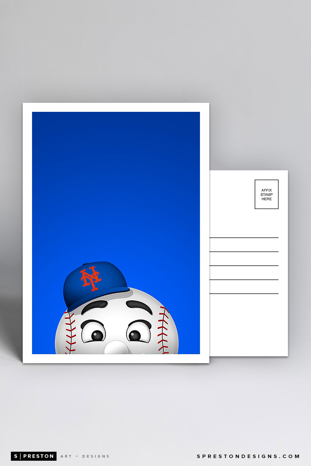 Minimalist Mr. Met Postcard