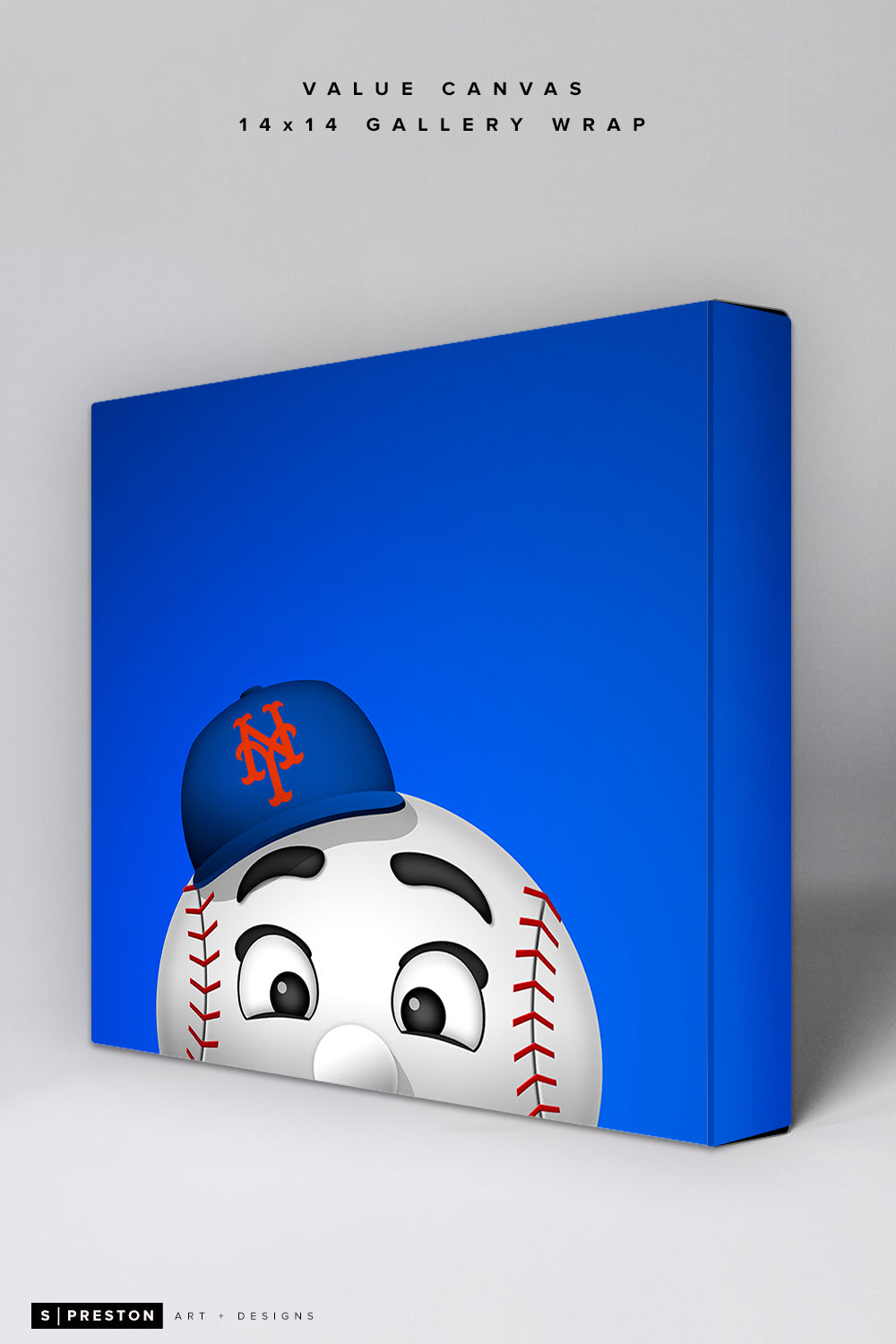 Minimalist Mr. Met Value Canvas CLEARANCE