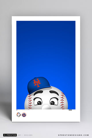Minimalist Mr. Met Art Poster