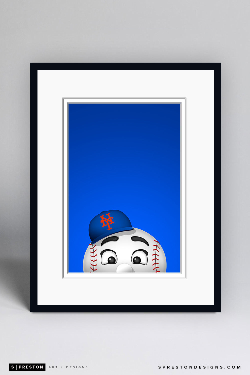 Minimalist Mr. Met - New York Mets - S. Preston