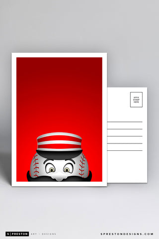 Minimalist Mr. Redlegs Postcard