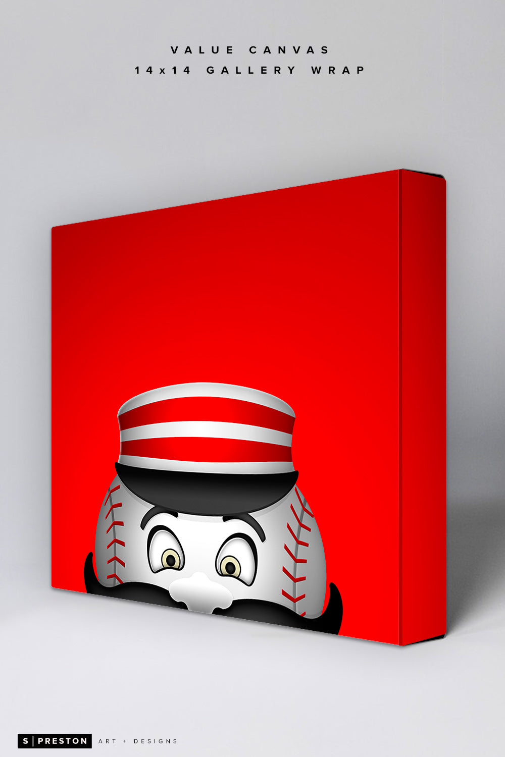 Minimalist Mr. Redlegs Value Canvas