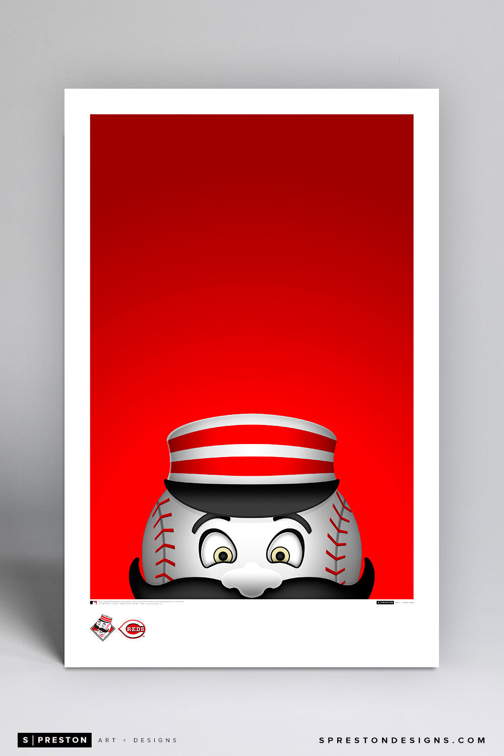 Minimalist Mr. Redlegs Art Poster Art Poster - Cincinnati Reds - S. Preston Art + Designs