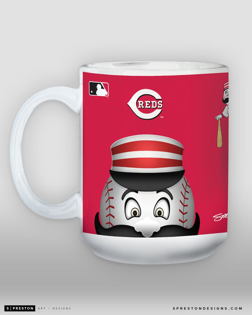 Minimalist Mr. Redlegs Coffee Mug - MLB Licensed - Cincinnati Reds Mascot