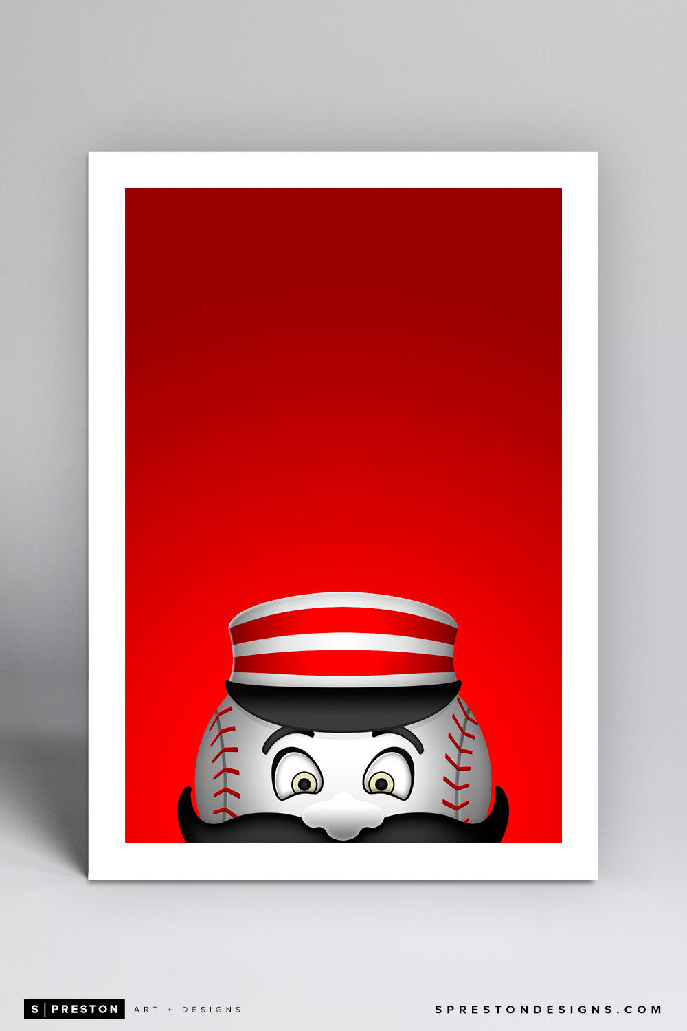 Minimalist Mr. Redlegs - Cincinnati Reds - S. Preston