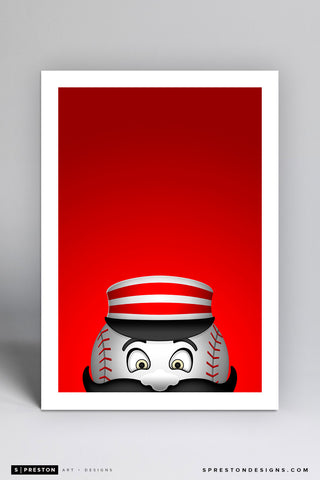 Minimalist Mr. Redlegs Art Print - Cincinnati Reds - S. Preston Art + Designs