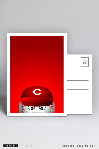 Minimalist Mr. Reds Postcard