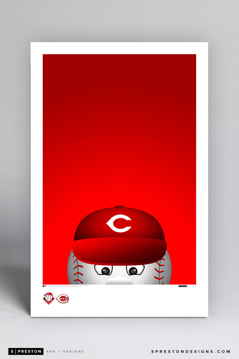 Minimalist Mr. Red Poster Print Cincinnati Reds - S Preston