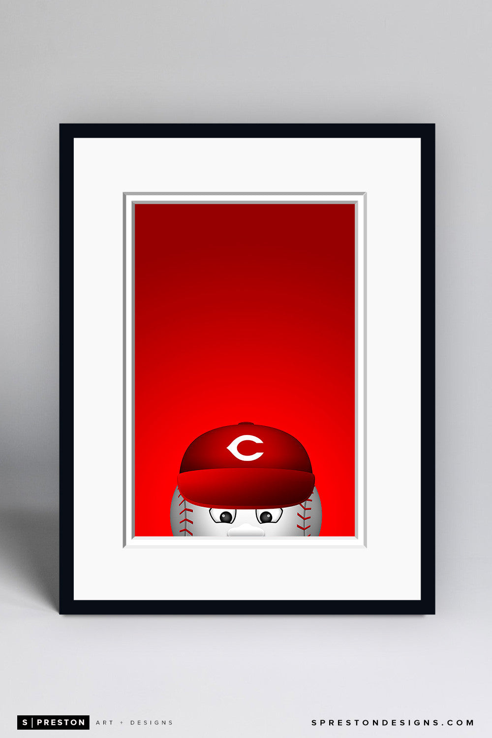 Minimalist Mr. Red - Cincinnati Reds - S. Preston