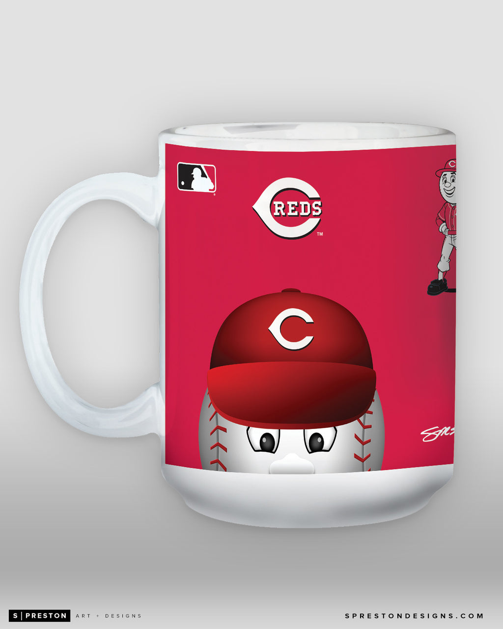 Minimalist Mr. Red Coffee Mug PRE-ORDER - MLB Licensed - Cincinnati Reds Mascot