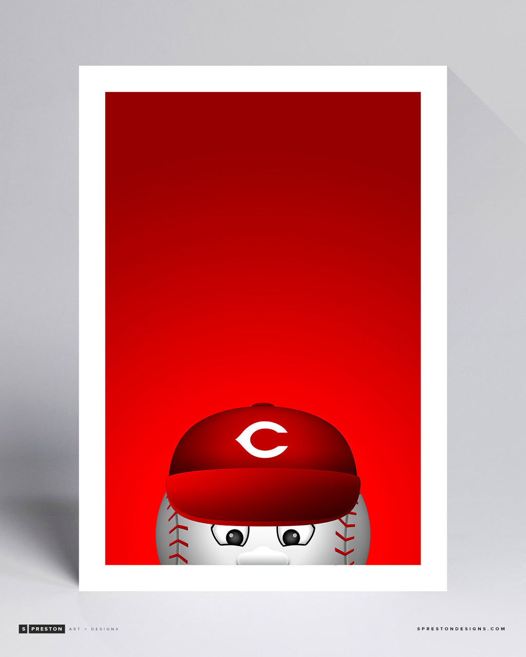 Minimalist Mr. Reds Art Print - Cincinnati Reds - S. Preston Art + Designs