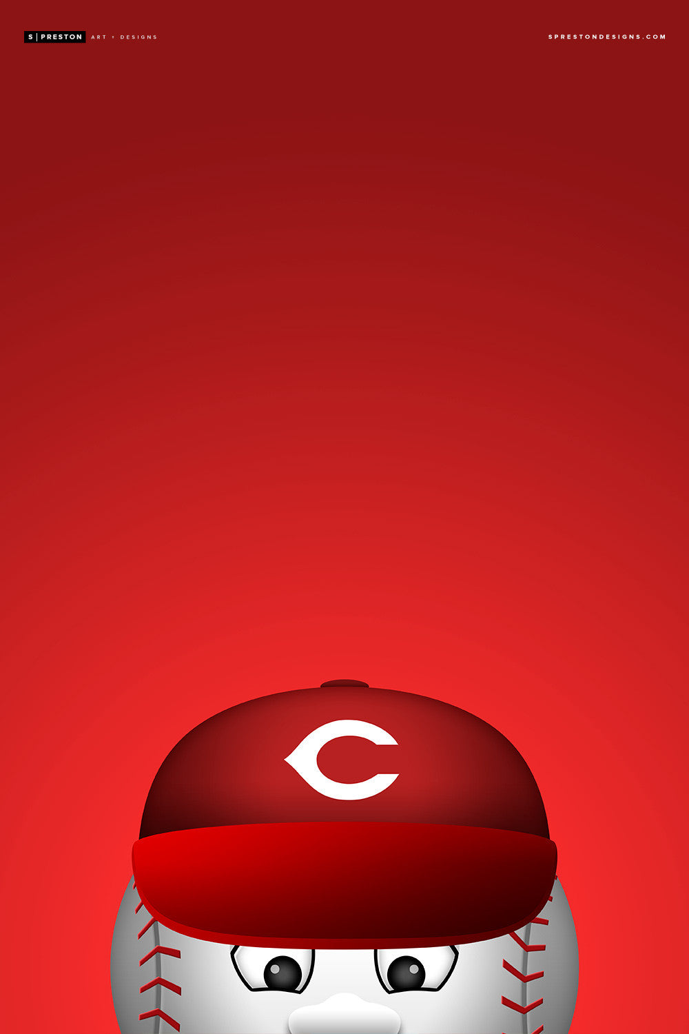 Minimalist Mr. Reds Canvas Canvas - Cincinnati Reds - S. Preston Art + Designs