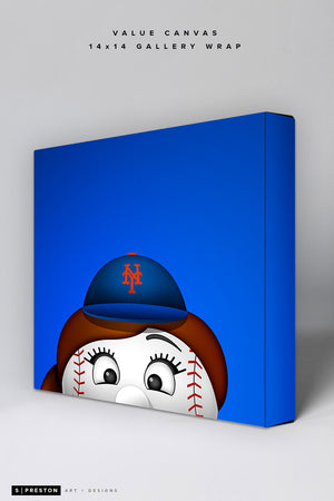 Minimalist Mrs. Met Value Canvas