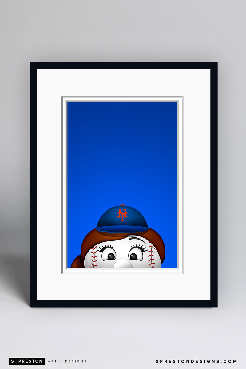 Minimalist Mrs. Met Art Print - New York Mets - S. Preston Art + Designs