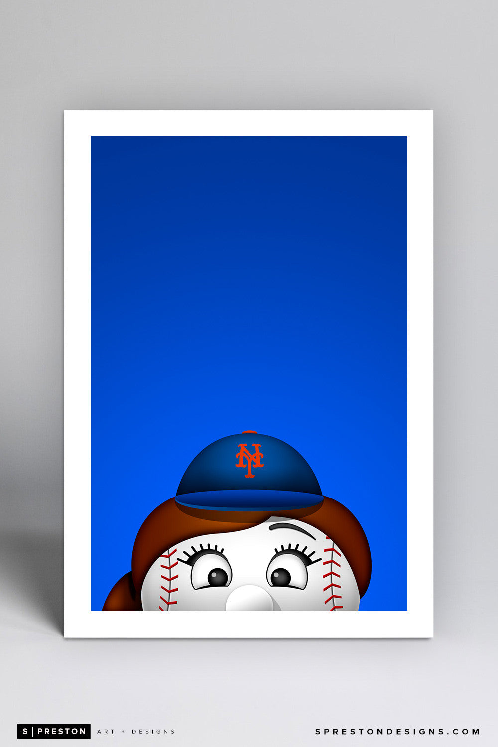 Minimalist Mrs. Met - New York Mets - S. Preston