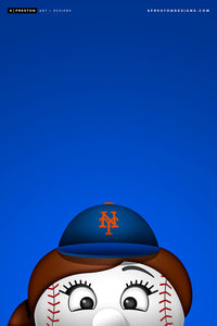 Minimalist Mrs. Met Canvas Canvas - New York Mets - S. Preston Art + Designs