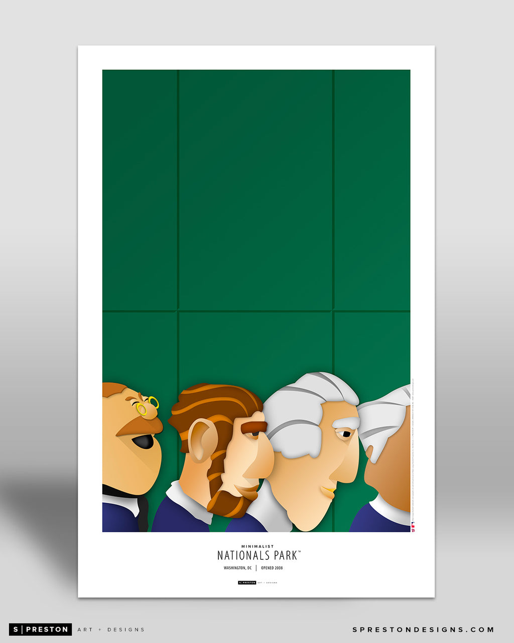 Minimalist Nationals Park Art Poster Art Poster - Washington Nationals - S. Preston Art + Designs