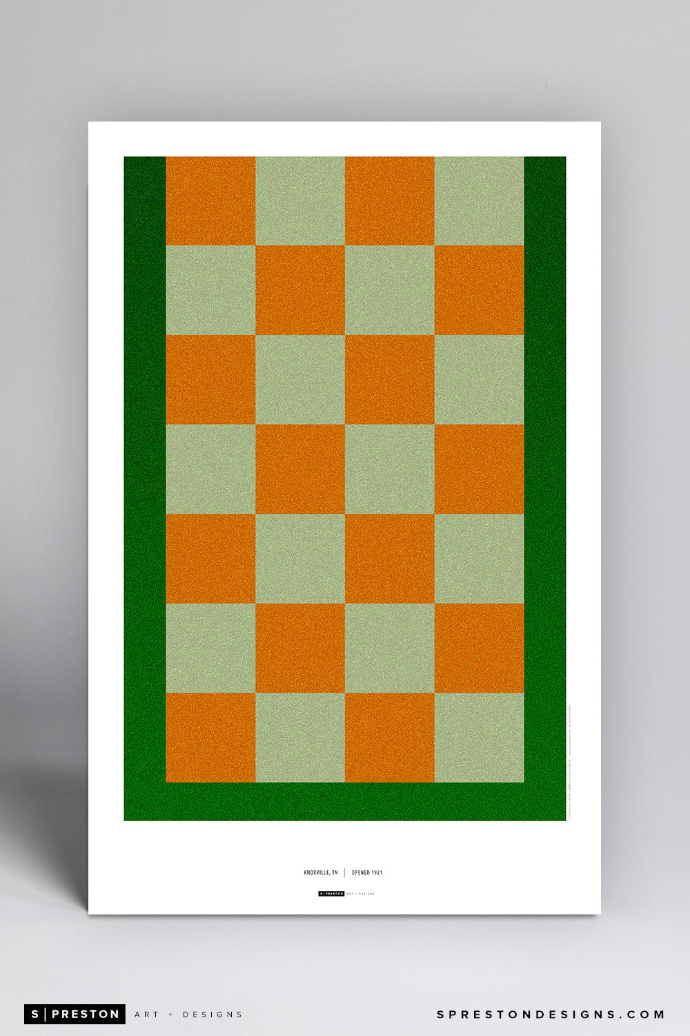 Minimalist Neyland Stadium Poster Print University of Tennessee - S Preston