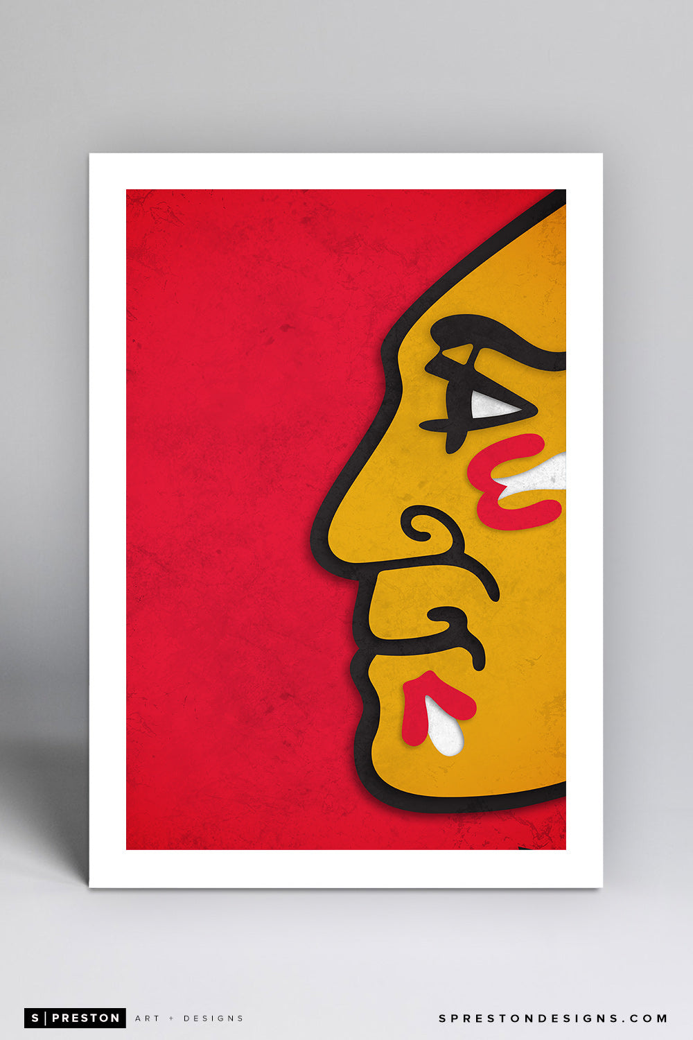 Minimalist Logo - Chicago Blackhawks - S. Preston
