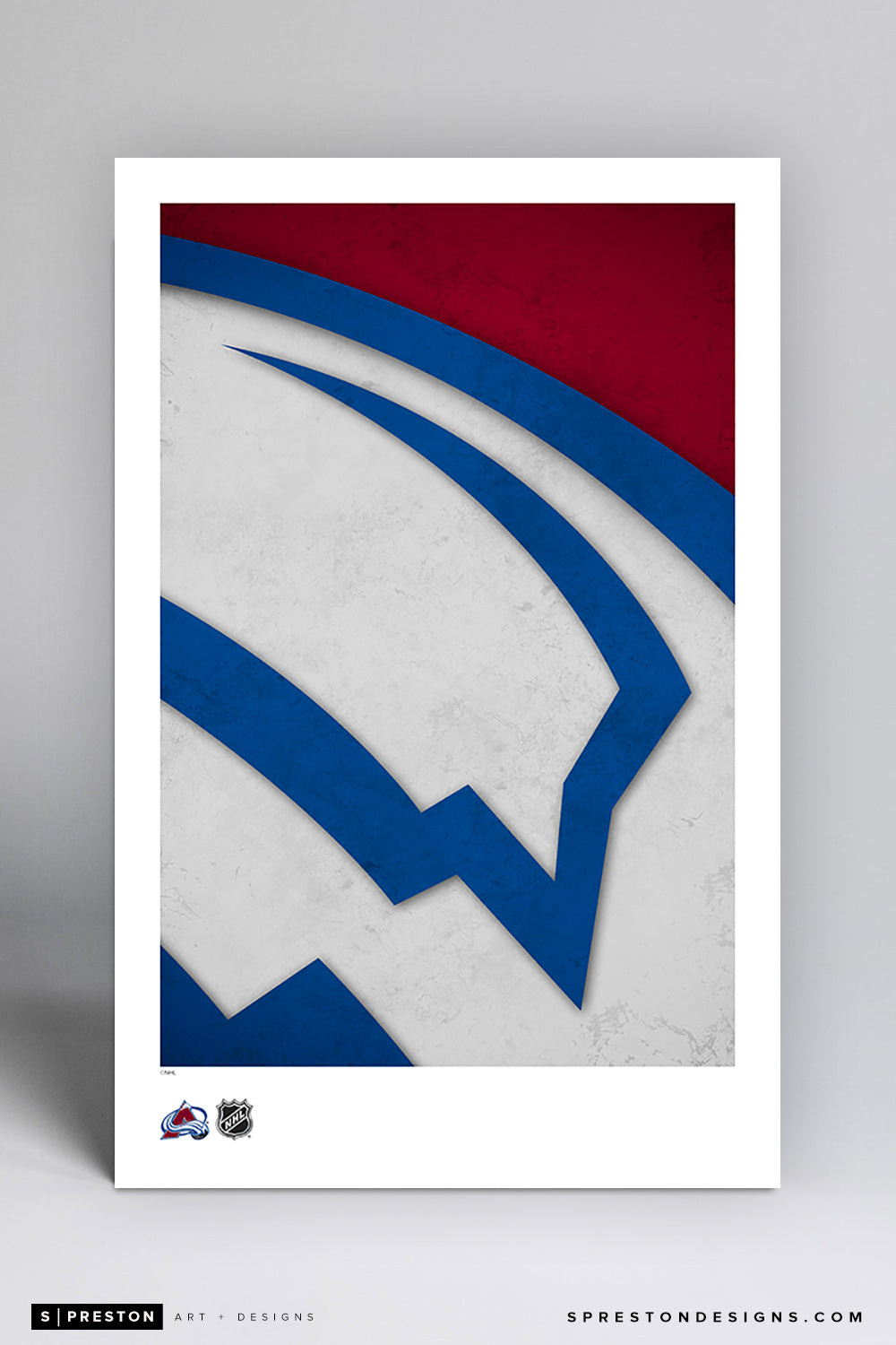 Minimalist Logo - Colorado Avalanche Poster Print Colorado Avalanche - S Preston