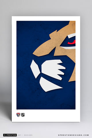 Minimalist Logo - Florida Panthers Art Poster