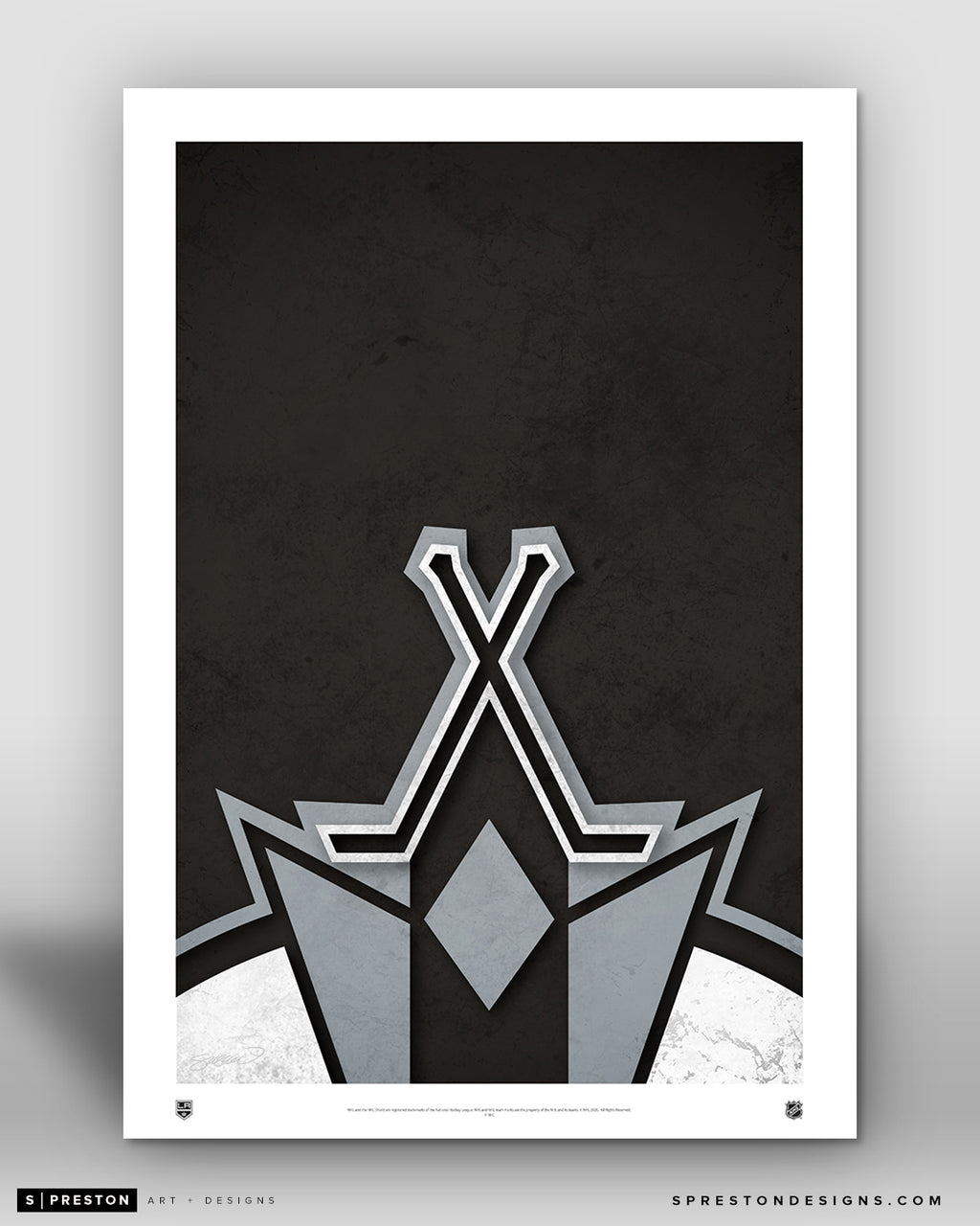 Minimalist Logo - Los Angeles Kings - S. Preston