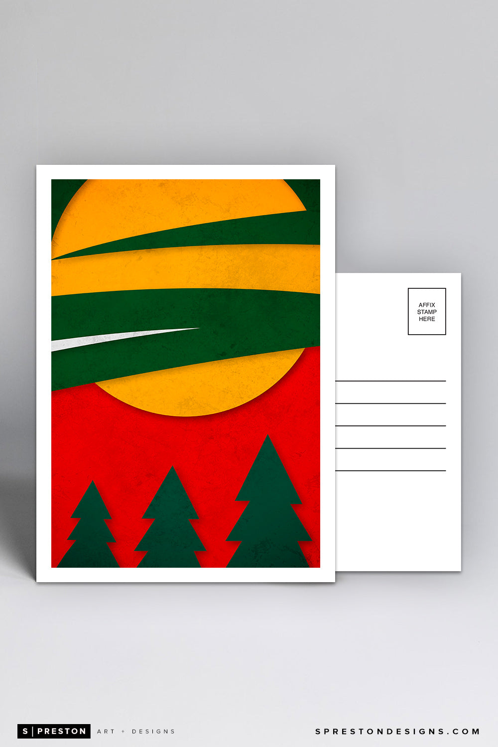 Minimalist Logo - Minnesota Wild Postcard NHL Licensed - S. Preston