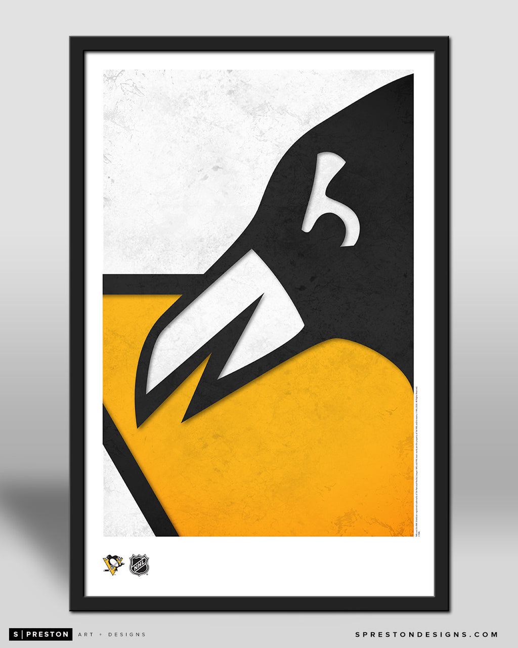 Minimalist Logo - Pittsburgh Penguins Poster Print