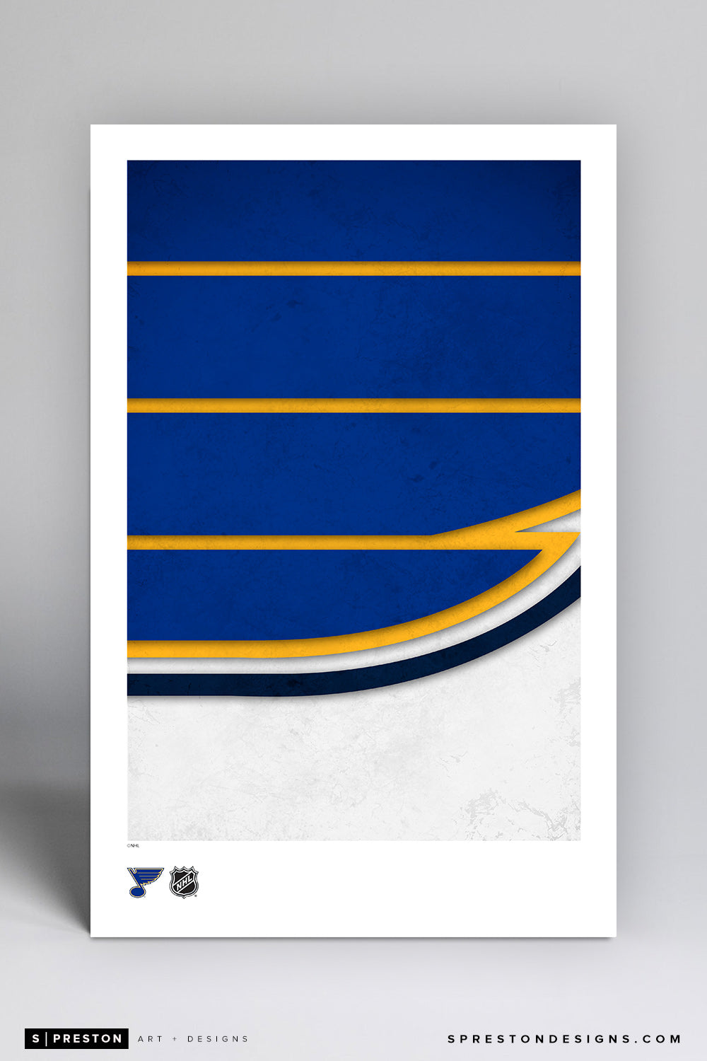 Minimalist Logo - St. Louis Blues Poster Print - S. Preston